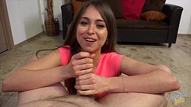 Riley Reid Jerking Off Two Cocks