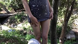 Teenage daughter takes a cum facial from the gardener in the backyard Erin Electra