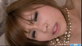 Ai Sakura tries cock in each of her shaved holes