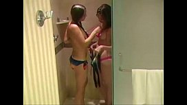 Sisters masturbating in the shower