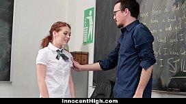 InnocentHigh Slutty Schoolgirl Seduces Her Teacher