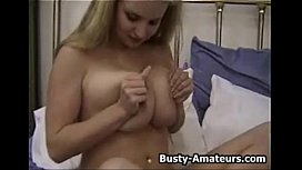 Busty Mariah playing with her favorite toy