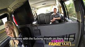 Female Fake Taxi Cocky fella shown who the boss