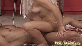 Blonde slut anal pounding hardcore