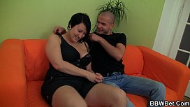 Fat gi iend enjoys pussy fingering and cock riding
