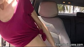 Wonderful blonde angelface Mila gets pussy penetraded by the guy