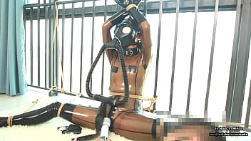 Rope bondage and gas mask airplay