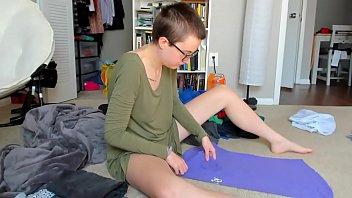 Ignoring You While Folding Laundry Konmari Method