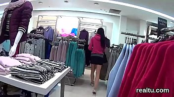 Exquisite czech nympho is seduced in the shopping centre and rode in pov
