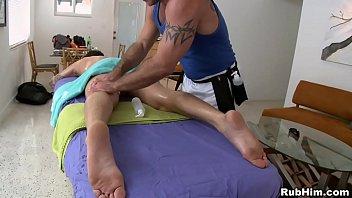 Rub him gay massage from husky bear for...