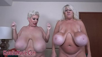 Kayla Kleevage VS Claudia Marie In A Saggy Tit Contest