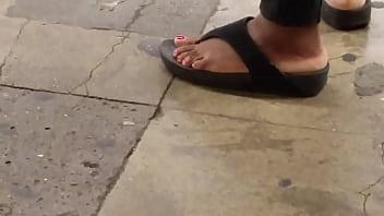 Candid ebony foot - Amateureb.com