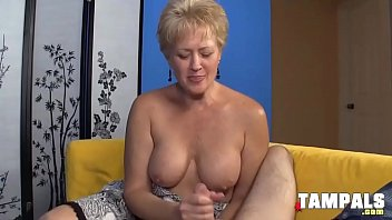 Horny Mature Blonde Jerking Guys Schlong