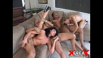 Hot orgy with young giving for two crowns