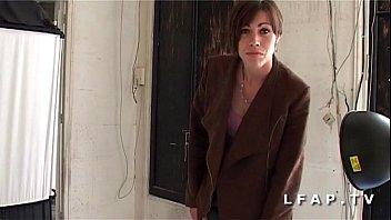 Sublime brunette francaise sodomisee et facialisee pour un casting porno amateur  #1167613