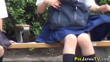 Pissing japanese teens
