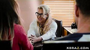MILF doctor Phoenix Marie cures his limp dick problem