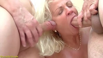 Crazy 73 Years  Old Grannies First Double Pene rst Double Penetration