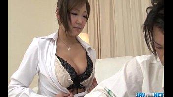 Naughtyhi yoko Morinaga Uses Her Tits To ses Her Tits To Stroke The Cock