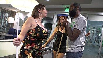 Very HOT MILF's Interracial Sex. - Sara Jay & Nicky Ferrari Shaundam