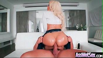 Anal Hardcore Sex With Big Round Oiled Ass Slut Girl (Luna Star) clip-19