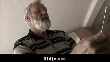 Sick Teeny Fucking Grandpa In Her Bedroom