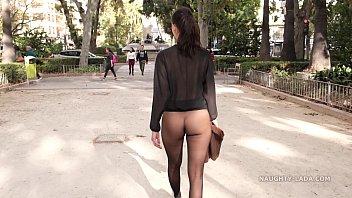 No Skirt Seamle ss Pantyhose In Public  Public
