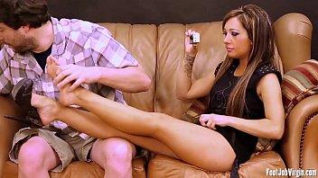 xxarxx Footjob Virgin  Sofia gets her feet played with
