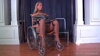 Blonde milf cherie deville tied gagged in a straitjacket and wheelchair smoke