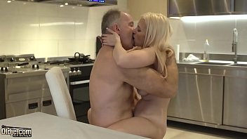 Blonde hot sex with old bald guy...