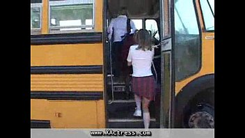 Bus School natural tits