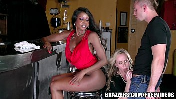 Brazzers - Ebony and ivory, anal threesome thumbnail