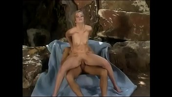 Petite blonde is fucked by big dick with her arms held behind her back in hotel