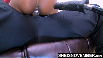 4k Msnovember Creampied Riding Stepdad Big Cock, Ebony Bubble Butt Bouncing Hard, Taboo Creampie StepDaughter Impregnation Sex Mounting Hardcore BBC Cum Spilling on Sheisnovember