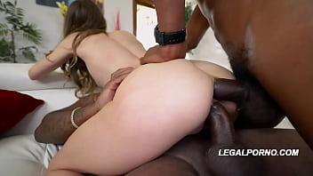 Interracial fuck fiend Jillian Janson&#039_s holes wallowed out DP&#039_d with 2 BBC