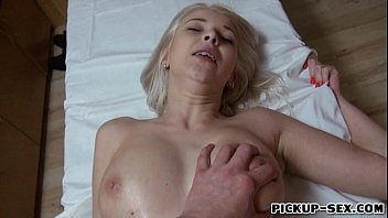 Sexy Karol Lilien flashes big tits and got pounded for money