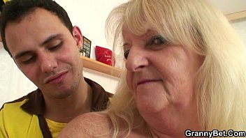 He brings blond grandma home for hard fuck mom mother