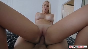 Busty stepmother teaches shy stepson how to fuck a MILF