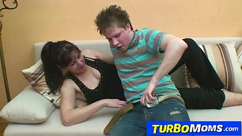 Hairy mom and son sex
