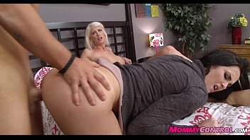 Hot blonde MILF seduces younger dude to fuck her 100%