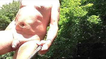uncut nudist chubby enjoying some wet fun
