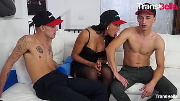TRANSBELLA - (Raphaela Martins Fabry Horse & Maurizio Mazza) Crazy Threeway With A Sexy Ass Brazilian Tranny
