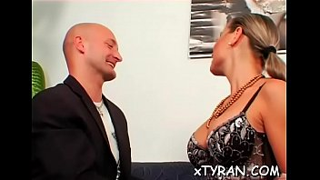 Sultry female-dom dominates stud