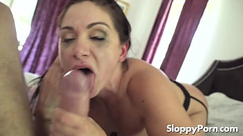 18yo April gags and throat fucks herself pov