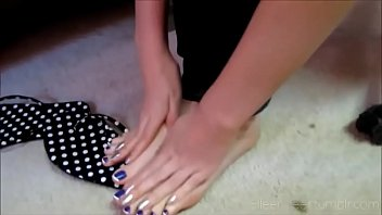 Cams4free.net - Candid Teen Blue French Pedicure in Class
