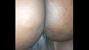 Sweet ebony with creamy pussy rides her boyfriend to sleep