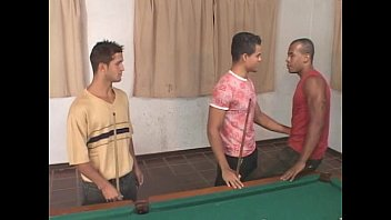 Camil Hot gay threesome on the pool table 17 min