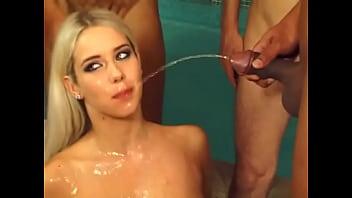 Pornstar Katrin Wolf aka Nesty peed on face