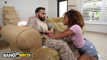 bangbros - kendall woods shows the troops some love by fucking a soldier