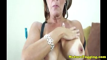 Glam tanlined cougars closeup pov handjob fun